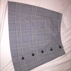 Sunday Best-Aritzia Grey Plaid A-Line Skirt